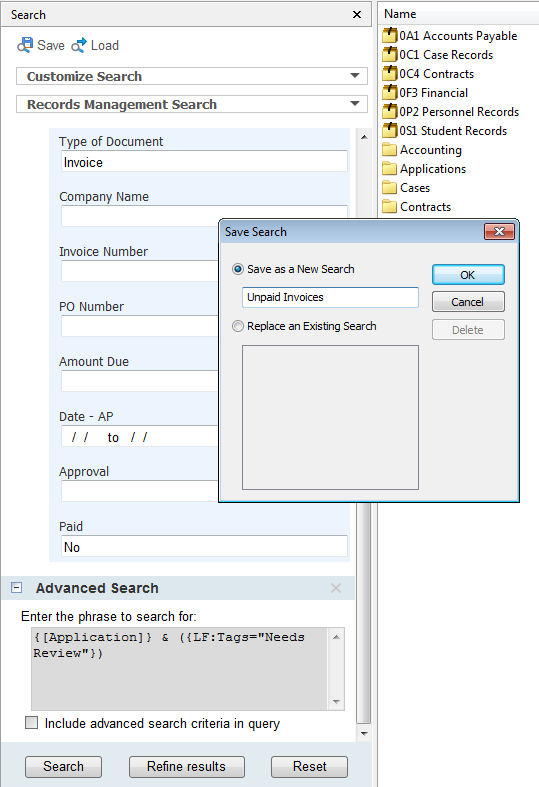 save time searching in Laserfiche