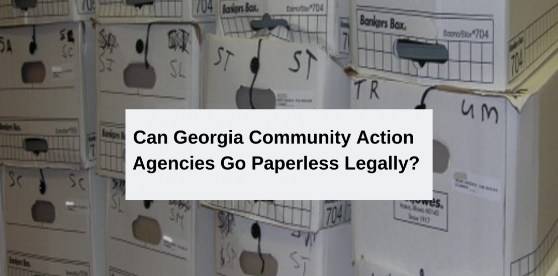 can Georgia CAP go paperless