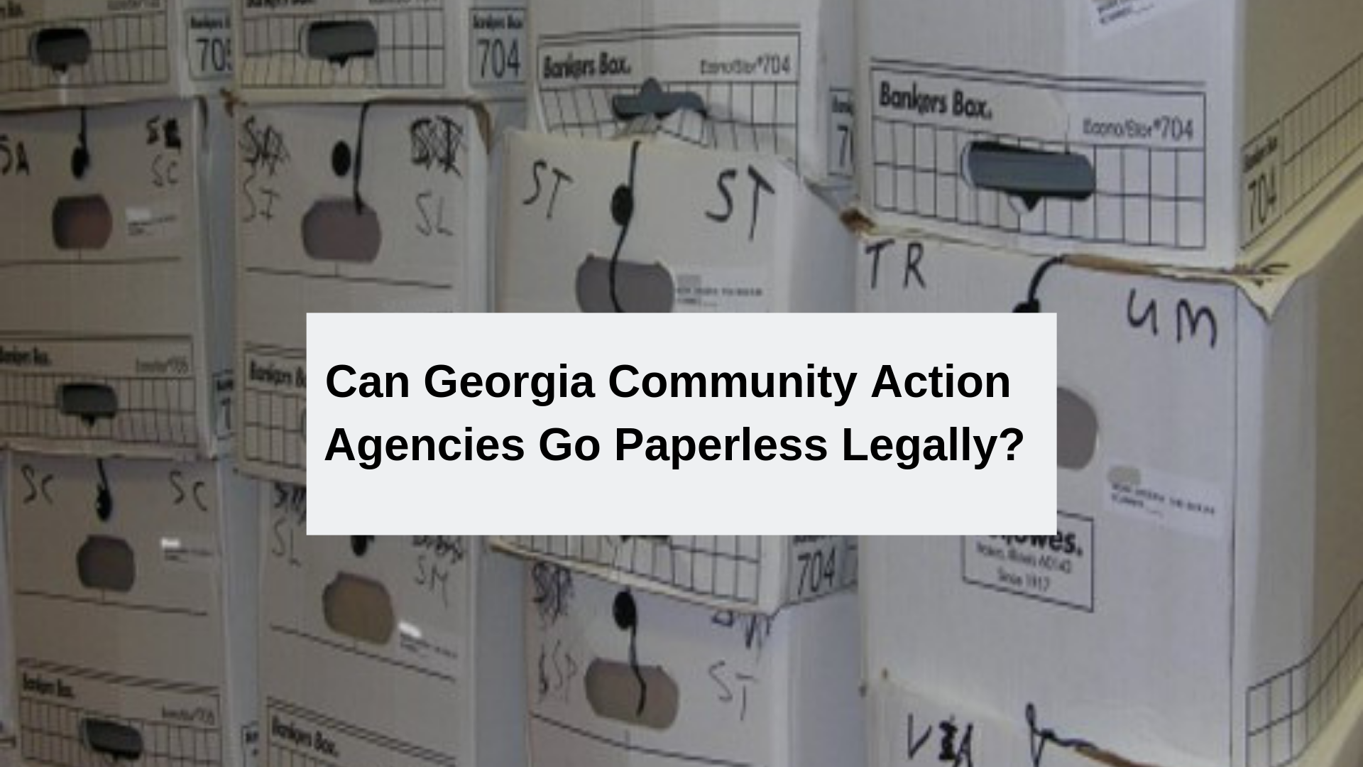 can Georgia CAP go paperless